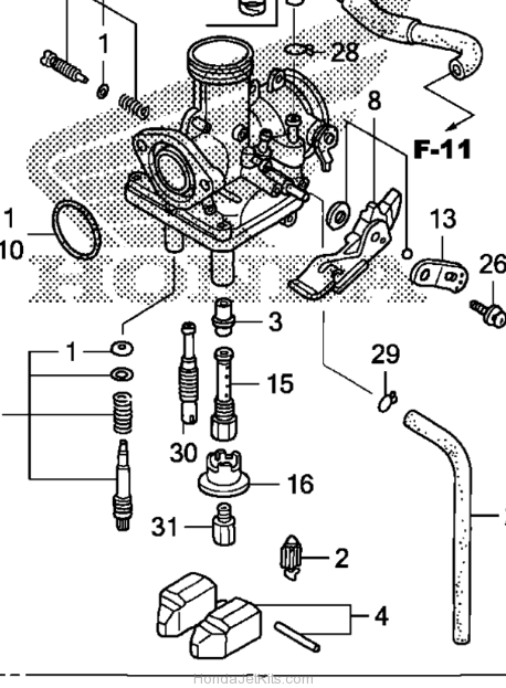 honda crf 150 carburetor diagram