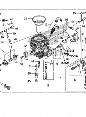 2009 Honda VT750C2F Carburetor diagramt