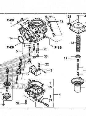 Honda CMX250C 2012 Carburetor diagramt